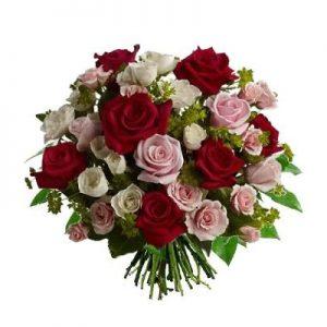 Bouquet di roselline colorate superior