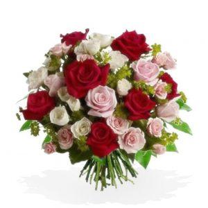 Bouquet di roselline colorate